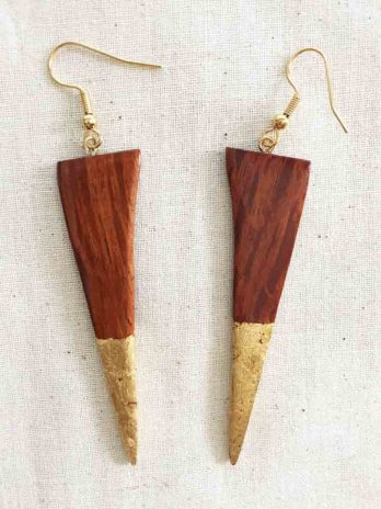 Sheoak & Gold Earrings